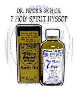 Bath Oil Dr. Pryor's 7 Holy Hyssop