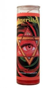 Mystical Fixed 7 Day Glass Candle Reversible - Red