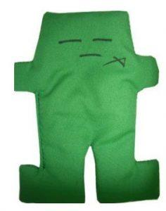 """Green Voodoo Doll 5"""" Tall"""
