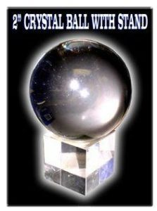 Feng Shui Crystal Ball With Glass Stand 2''