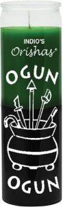 Indio Candle Orisha Ogun